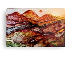 """""""Molten Mountains"""" Colorful Unique Original Artist's Design!  Metal Print"""