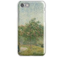 Vincent Van Gogh - Garden with courting couples square Saint-Pierre, Famous Painting. Impressionism. Van Gogh iPhone Case/Skin