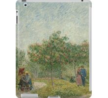 Vincent Van Gogh - Garden with courting couples square Saint-Pierre, Famous Painting. Impressionism. Van Gogh iPad Case/Skin
