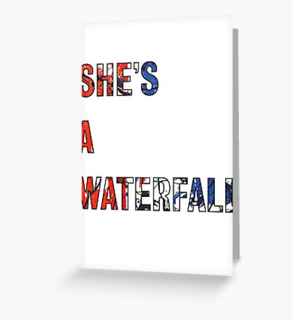 She's A Waterfall - The Stone Roses Greeting Card