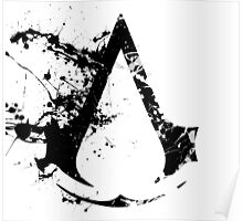 Splatter Paint Assassins Creed Logo Poster