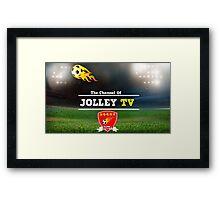 JolleyTV poster design Framed Print