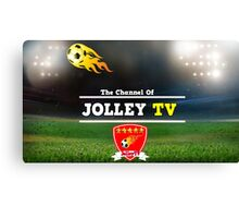 JolleyTV poster design Canvas Print