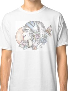 traditional gypsy woman tattoo Classic T-Shirt
