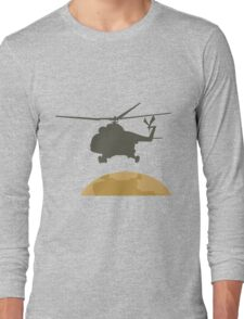 Helicopter flying design Long Sleeve T-Shirt