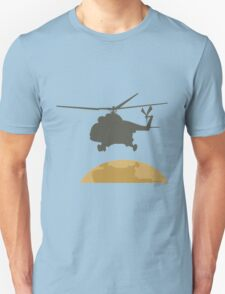 Helicopter flying design T-Shirt