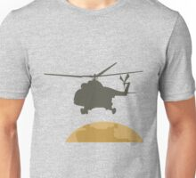 Helicopter flying design Unisex T-Shirt