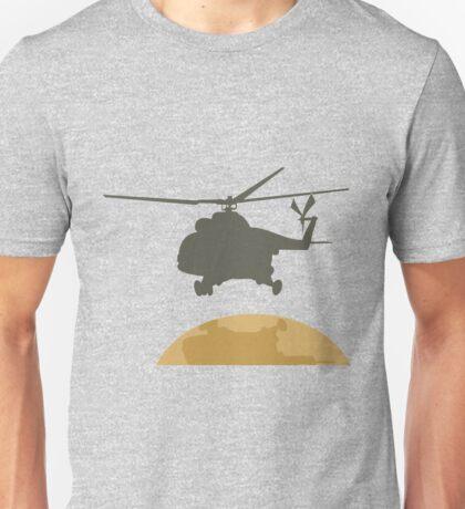 Helicopter flying design Unisex T-Shirt