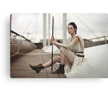 Star Wars The Force Awakens - Rey Cosplay Canvas Print