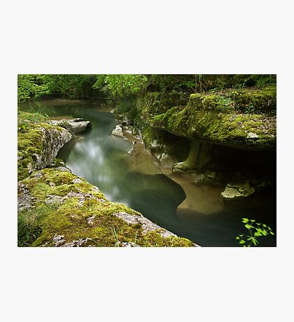 Springtime on Seran river Photographic Print