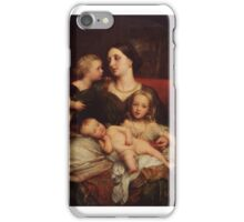 George Frederic Watts () Mrs George Augustus Frederick Cavendish-Bentinck and her Children iPhone Case/Skin