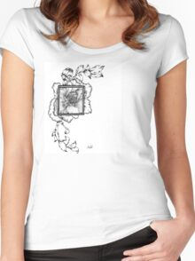 Wild flora framed 2.0 Women's Fitted Scoop T-Shirt