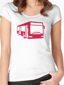 Red bus Women's Fitted Scoop T-Shirt
