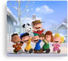 the peanuts charlie brown and friends wulan Canvas Print