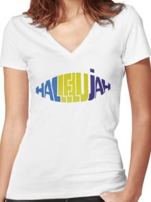 Happy Mondays - HALLELUJAH Women's Fitted V-Neck T-Shirt
