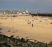 Sands of St Ives harbour at low tide by Grace Johnson