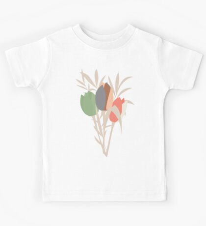 Spring flower pattern, tulips and lilies, 007 Kids Tee