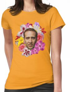 Nicolas Cage - Floral Womens Fitted T-Shirt