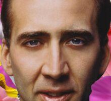 Nicolas Cage - Floral Sticker