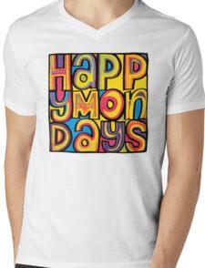 Happy Mondays Logo Mens V-Neck T-Shirt