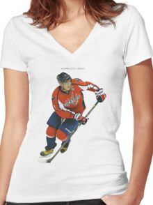 Washington Capitals Women's Fitted V-Neck T-Shirt