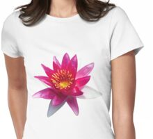 Pink Water Lily Womens Fitted T-Shirt