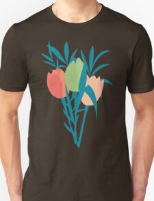 Spring flower pattern, tulips and lilies, 006 T-Shirt