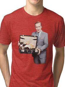 Saul Goodman's Cat Box Tri-blend T-Shirt