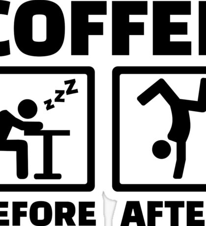 Coffee before after Sticker