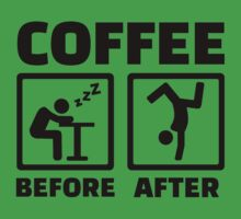 Coffee before after One Piece - Short Sleeve