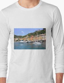 Boats in Portofino Long Sleeve T-Shirt