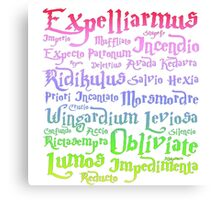 Magic spells mantra Harry potter Canvas Print