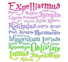 Magic spells mantra Harry potter Photographic Print