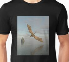 Dragon Flying Low Over the Sea in Daylight Unisex T-Shirt