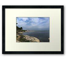 Ocean in Croatia Framed Print