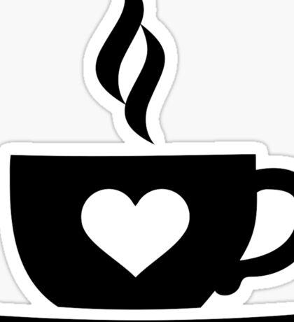 Coffee cup heart Sticker