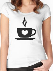 Coffee cup heart Women's Fitted Scoop T-Shirt