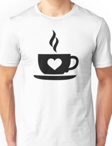 Coffee cup heart Unisex T-Shirt
