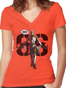Bly 66 Women's Fitted V-Neck T-Shirt