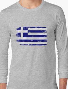 Greece vintage flag Long Sleeve T-Shirt