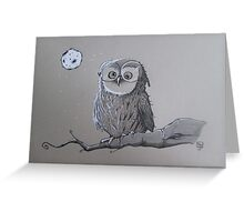 Owl with glases Greeting Card