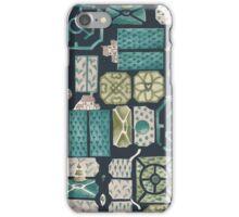 Garden design plan iPhone Case/Skin