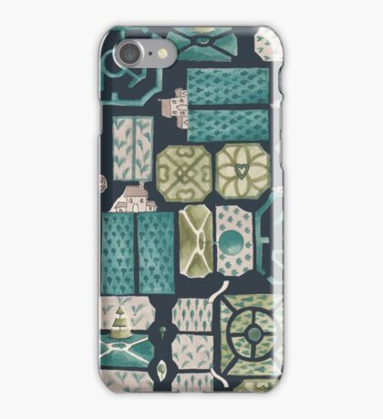 Garden design plan iPhone Case/Skin