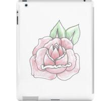 traditional pink tattoo rose iPad Case/Skin