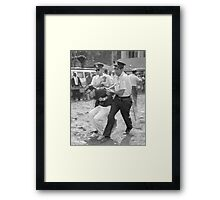 Bernie Sanders Chicago Protest Shirt Framed Print