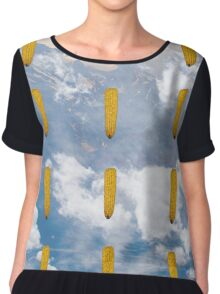 Corn In the Sky Photocollage | Collages Chiffon Top