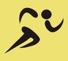 Olympic sports athletics pictogram One Piece - Short Sleeve