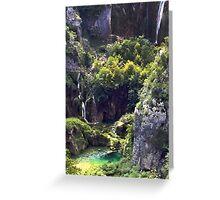 Waterfalls in Croatia Greeting Card