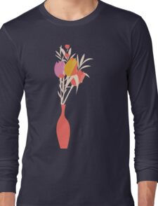 Spring flower pattern, tulips and lilies, 004 Long Sleeve T-Shirt