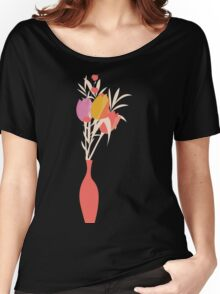 Spring flower pattern, tulips and lilies, 004 Women's Relaxed Fit T-Shirt